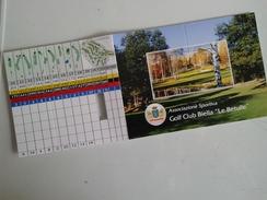 Alt995 Associazione Sportiva Golf Club Le Betulle Biella Tabella Punti Par Buche Europea Tour Federazione Italiana - Golf