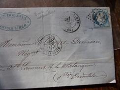 Lot Du 18.04.17_LAC ,variété Sur N°60,de Banyouls-s-mer GC 4414 ,bureau Suplémentaire,ind 7 - Storia Postale