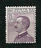 ITALIA 1920 - Effigie Di Vittorio Emanuele III - 55 C. Violetto - MH - Sa 110 - Nuovi