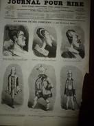 1855 Gravures  Du Journal Pour Rire:Parents Terribles; La RISTORI Et Complices;Marie Stuart Au Suplice, Par DROZ ; Etc - Vieux Papiers