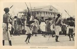 Ref T592- Djibouti - Danse Guerrieres   -carte Bon Etat  -postcard In Good Condition  - - Djibouti