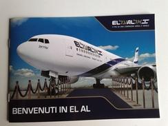 Alt1001 EL AL Israele Israel Airlines Flights Boeing Aereo Avion Tel Aviv Jerusalem Eilat Interior Cabin Cabine Security - Materiale Promozionale