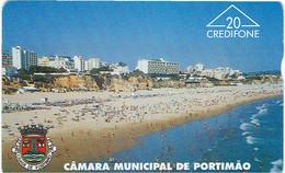 PHONECARDS-- PORTUGAL-- PORTUGAL TELECOM  OPTICAL 20 U---C. M. PORTIMÃO--- PRAIA DA ROCHA--BATCH  602L - Portugal
