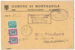 TI267     Storia Postale 1990  Comune Di Montaquila Tassata Con Segnatasse Per Colli Al Volturno - 6. 1946-.. Repubblica