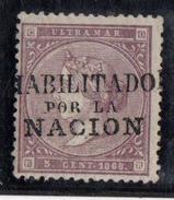 CUBA Nº 22A. CON CHARNELA. - Cuba (1874-1898)