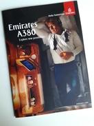 Alt1004 Emirates Airbus A380 Abu Dhabi Dubai Hub Airport Flights Aereo Avion Class Seating Plan Cabin VIP Class Lounge - Pubblicità