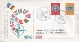 NATO/OTAN.Obliteration And Stamps 10 Years Nato 1959.Verödung Und Stempel 10 Jahre Nato.Nordatlantik Militärische Organi