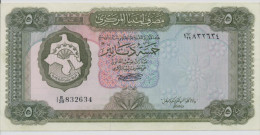 LIBYA P. 36b 5 D 1972 AUNC - Libya