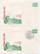 DDR Philaitelia'90 Ganzsache PU17 Reichstagsgebäude Postfrisch Und SSt; Private Postal Stationery MNH + Special Postmark - [6] Oost-Duitsland