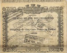 OBLIGATION 1875  3% CHEMINS DE FER DES CHARENTES  V.SCANS+HISTORIQUE
