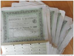 LOT De 10     Chemin De Fer De BAYONNE à BIARRITZ             1877