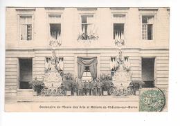 (n°93)  CPA 51 CHALONS SUR MARNE Centenaire De L'école Des Arts Et Metiers  ____ Luxe Animation 1910 - Châlons-sur-Marne
