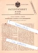 Original Patent - Gustav Schöhl In Berlin , 1901 , Druckknopfverschluß Für Handschuhe !!! - Historische Dokumente