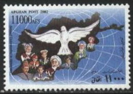 2002 Afghanistan National Understanding Day, Map, Bird, Geography (1v) MNH (M-386)