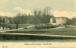 CHATEAU DE PINON(CARTE EN COULEUR TOILEE) - France