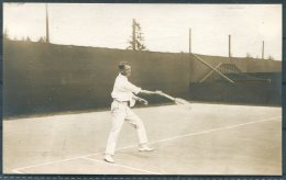 1912 Sweden Stockholm Olympics Official Postcard No 12. ' Lawn Tennis - Winslow, South Africa' - Olympic Games