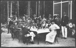 1912 Sweden Stockholm Olympics Official Postcard No 18 'From The Shooting Competition - At The Lunch' - Olympic Games