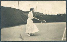 1912 Sweden Stockholm Olympics Official Postcard No 25 Mrs Fick, Sweden Tennis - Olympic Games