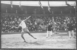 1912 Sweden Stockholm Olympics Official Postcard No 62 Javelin Athletics Finland - Olympic Games