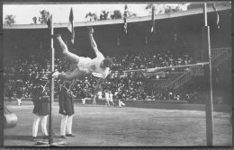 1912 Sweden Stockholm Olympics Official Postcard No 108 USA G. Horine, Running High Jump, Athletics (different Picture) - Olympic Games