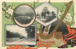 Ref T547- Japon -japan - Carte Gaufrée -kyushu - Train Ligne De Chemin De Fer   -postcard In Good Condition  - - Japan