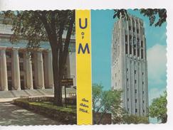 Cpa.Etats-Unis.1975.University Of Michigan.left Angell Hall   Right Burton Memorial Carillon Tower . 10,5 X 15 Cm - Etats-Unis