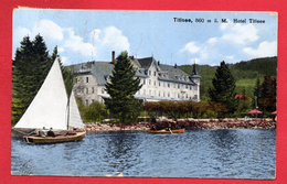 Titisee. Lac De Titisee, Barques. Hôtel Titisee. 1921 - Titisee-Neustadt