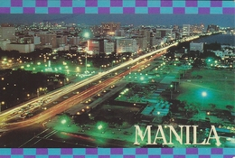 Manila By Night  Philliphines. Sent To Denmark   # 05879 - Philippines