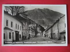 AK Österreich- Schottwien Am Semmering 1937 Hauptstrasse Gegen Sonnwendstein - Gutenstein