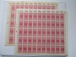 Deutsches Reich 2 Komplette Bogen Deutsches Zollgebiet Statistische Gebühr 1 Mark. Anlage. Ba. HAN 5295.22 ** / Postfr. - Ungebraucht