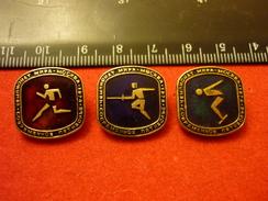 World Modern Pentathlon Championships - 1974 Moscow USSR - Running Fencing Swimming - 3 Pins - Fencing