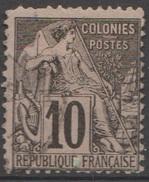 Colonies Française Emissions Générales 1881 N° 50 Alphée Dubois Une Dent Courte En Haut (E6) - Alphée Dubois