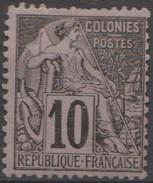Colonies Française Emissions Générales 1881 N° 50 MH Alphée Dubois Dents Courtes En Haut (E6) - Alphée Dubois