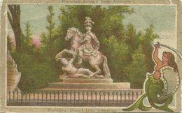 Postkarte Warszawa Warschau Sobieski-Denkmal 1916 Feldpost Lesen! # - Weltkrieg 1914-18