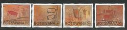 1991 Botswana  Petroglyphs Cave Paintings Art Complete Set Of 4 MNH - Botswana (1966-...)