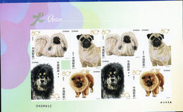 CHINA 2006-6 Dogs Stamps Stickers Sheet - 1949 - ... People's Republic