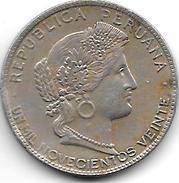 *peru 20 Centimos 1920  Km 215.1 Xf+ - Pérou