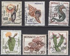 MONACO 1960 -  Y.T.  N° 537B / 539B / 540 / 541 / 542 / 543 - 6 TP OBLITERES  /FF592 - Usati