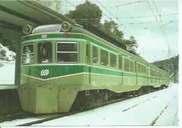 20 - UNIDAD ELECTRICA N° 413 CON QUITANIEVES LAS PLANAS ( BARCELONA ) ENERO 1989  ( TRAIN ) - Spain