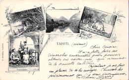 ¤¤   -  TAHITI  -  Mulitivues  -  Groupe De Tahitiens, Rivière De Taulira , Pêche Au Harpon   -  ¤¤ - Tahiti