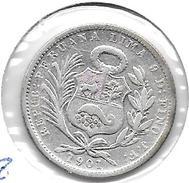 *peru 1/5 Sol 1901 JF Km 205.2   Vf - Peru