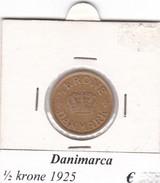 DANIMARCA   1/2  KRONE  1925  COME DA FOTO - Danimarca