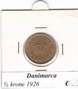 DANIMARCA   1/2  KRONE  1926  COME DA FOTO - Danimarca