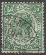 Nyasaland. 1921-33 KGVI. ½d Used. Mult Script CA W/M SG 100 - Nyasaland (1907-1953)
