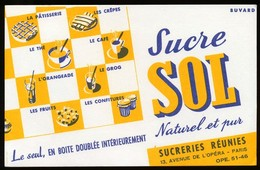 Buvard - Sucre SOL - Buvards, Protège-cahiers Illustrés