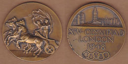 AC - UNITED KINGDOM - OFFICIAL OLYMPIC PARTICIPATION MEDAL LONDON 1948  BRONZE - Bekleidung, Souvenirs Und Sonstige