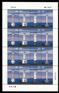 China 2006-12 Modern Ligthouses Stamps Full Sheet - 1949 - ... People's Republic