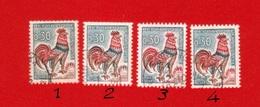 1331 A (0) , Voir Descriptions Coq De Decaris - Abarten: 1960-69 Gebraucht