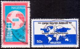 NIGERIA 1985 SG #500-01 Compl.set Used 25th Anniv OPEC - Nigeria (1961-...)