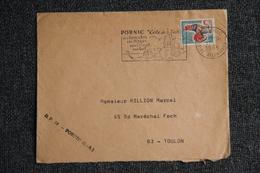Enveloppe Publicitaire De PORNIC ( Voir Verso ) Envoyée En Simple De PORNIC à TOULON - Marcophilie (Lettres)